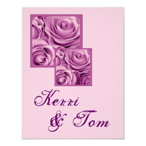 """LILAC PURPLE Wedding Reception Card 4.25"""" X 5.5"""" Invitation Card"""