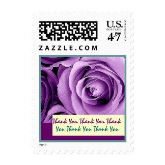 LILAC PURPLE Wedding THANK YOU Stamp