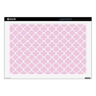 Lilac Quatrefoil Clover Pattern Skins For Laptops