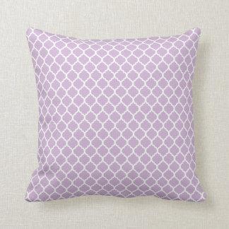 Lilac Quatrefoil Throw Pillow