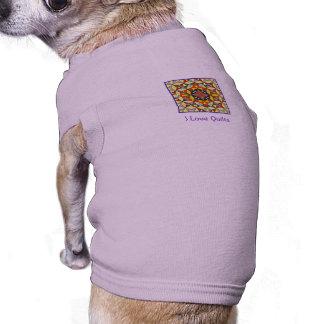 Lilac Quilt Theme Doggie T-shirt