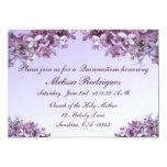 Lilac Quinceanera 5x7 Paper Invitation Card