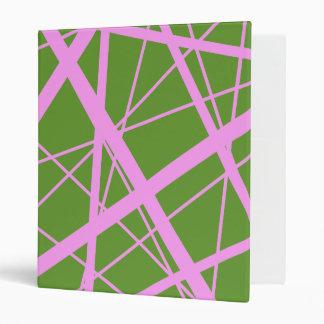 Lilac Random Stripes Binder