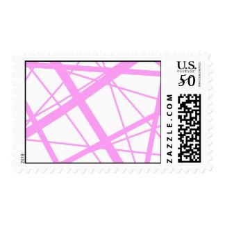Lilac Random Stripes Postage