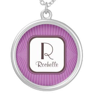 Lilac Rays Monogram Necklace