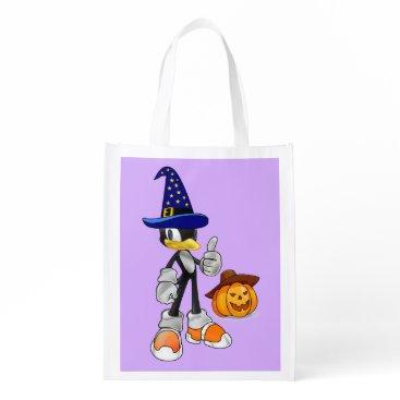 Halloween Themed Lilac Reusable Halloween Treat Bags Wizard Penguin