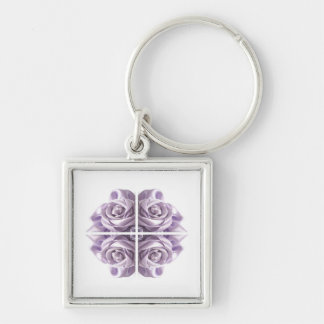 Lilac Rose Abstract Keychain