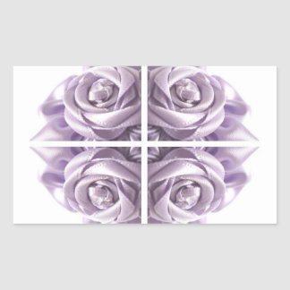 Lilac Rose Abstract Rectangular Stickers