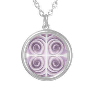 Lilac Rose Art Silver Plated Necklace