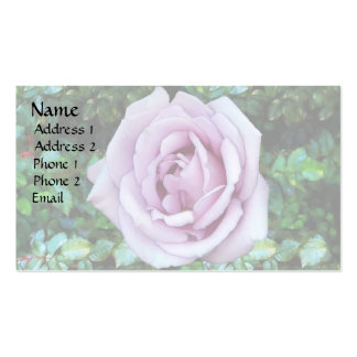 Lilac Rose Double-Sided Standard Business Cards (Pack Of 100)