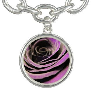 Lilac Rose Charm Bracelet