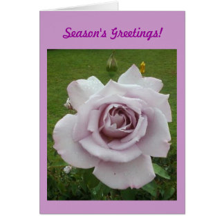 LILAC ROSE CHRISTMAS GREETING CARD BY RAINEC