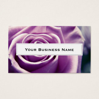 Lilac Rose pastel flower bouquet Business Cards