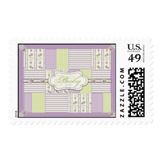 Lilac Rose Quilt Stamp
