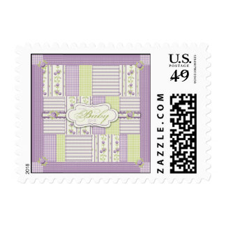 Lilac Rose Quilt Stamp B