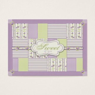 Lilac Rose Quilt TY Gift Tag