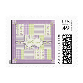 Lilac Rose Quilt TY Stamp B
