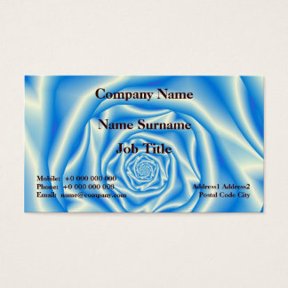 Lilac Rose Spiral Business Card