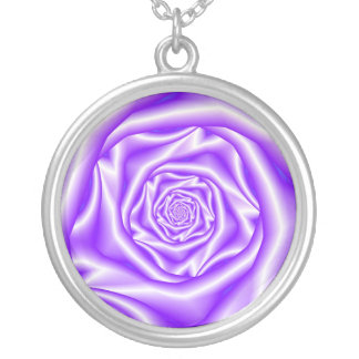 Lilac Rose Spiral Necklace
