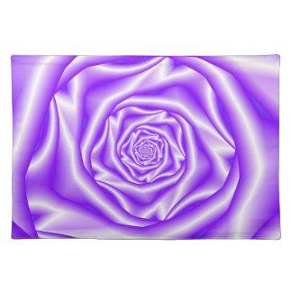 Lilac Rose Spiral Placemats Cloth Place Mat