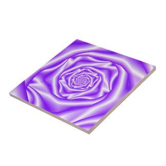 Lilac Rose Spiral tile