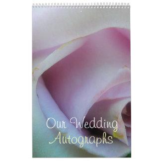 Lilac Rose Wedding Wall Calendar