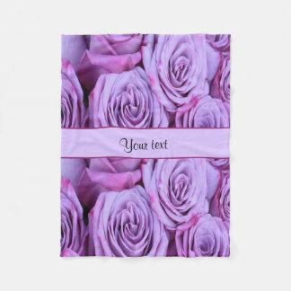 Lilac Roses Fleece Blanket