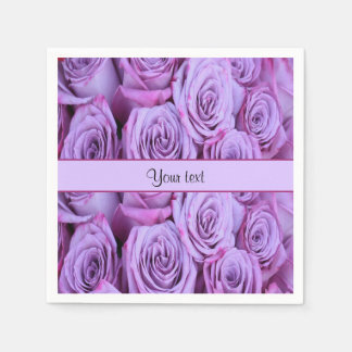 Lilac Roses Paper Napkin