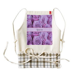 Lilac Roses Zazzle HEART Apron