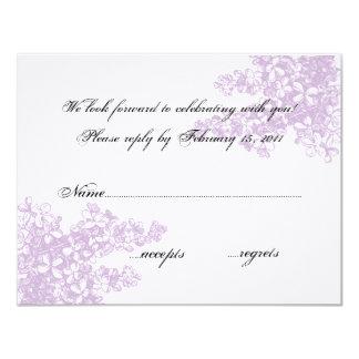 Lilac RSVP Card