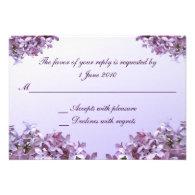 Lilac RSVP Wedding Custom Invitations