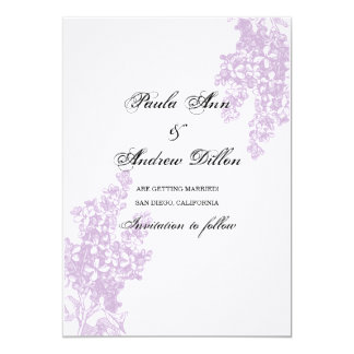 Lilac Save the Date Card