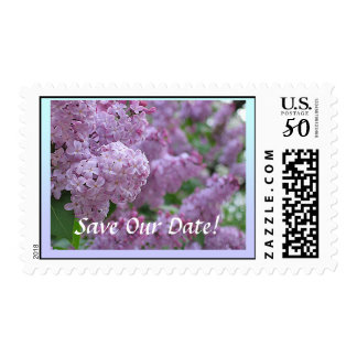 Lilac Save The Date Stamp