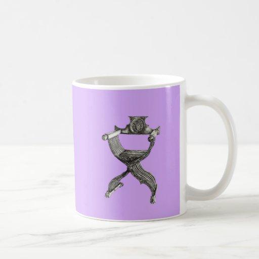 Lilac savonarola chair classic white coffee mug