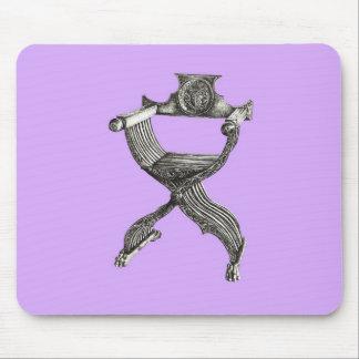 Lilac savonarola chair mouse pad