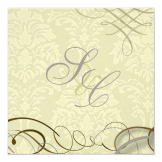Lilac/scrolls/swooshes/ivory damask card