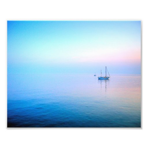 Lilac Sea Photo Print