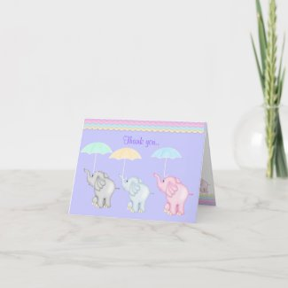LILAC SHOWER THANK YOU CARD card