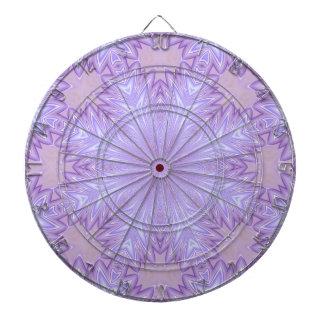 Lilac Silk Christmas Abstract Dartboard With Darts