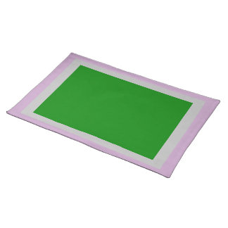 Lilac Silver and Green Placemat