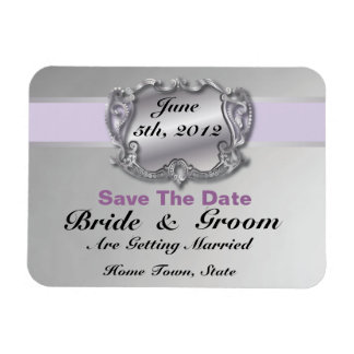 Lilac & Silver - Save The Date Flex Magnet