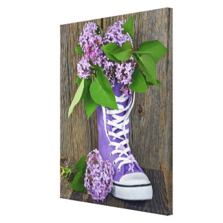 Lilac Sneakers Canvas Print
