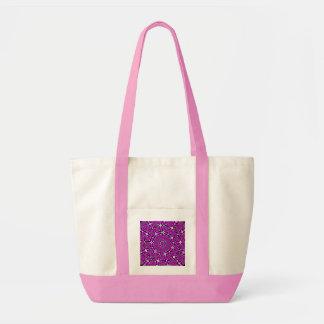 Lilac Snowflake Tote Bag
