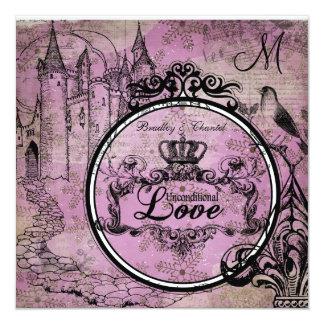 Lilac Snowflake Unconditional Love Wedding Invite