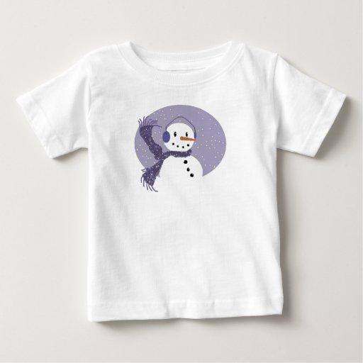 Lilac Snowman Baby Tee