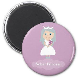 Lilac Sober Princess magnet