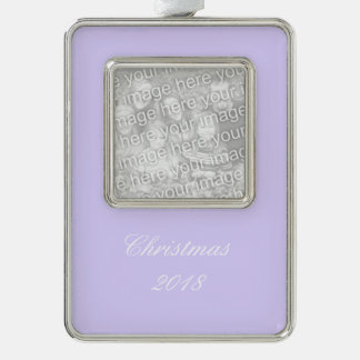 Lilac Solid Color Christmas Ornament