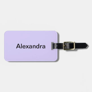 Lilac Solid Color Luggage Tag