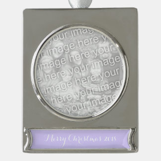 Lilac Solid Color Silver Plated Banner Ornament