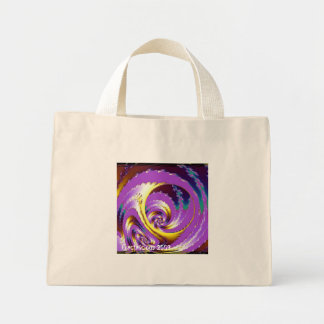 Lilac Spiral Mini Tote Bag
